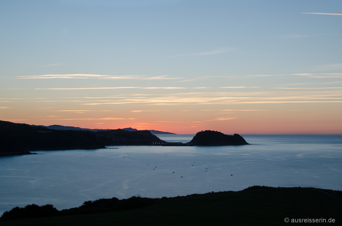Sonneuntergang über Zarautz