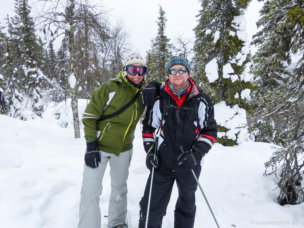 Jan und ich beim Schneeschuhwandern