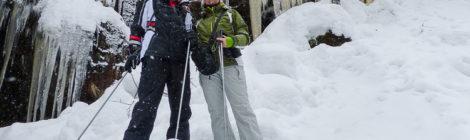 Schneeschuhwanderung in finnisch Lappland