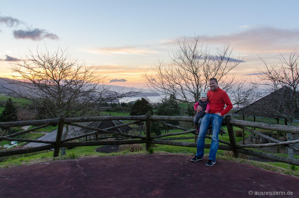 Sonnenuntergang am Miradouro dos Barreiros