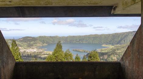 Blick auf Sete Cidades vom Monte Palace Hotel