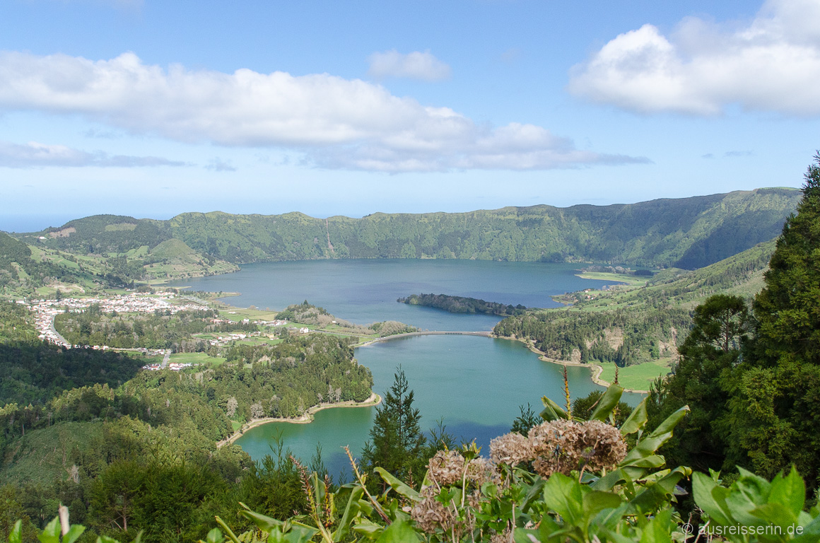 Ausblick vom Vista do Rei auf Sete Cidades