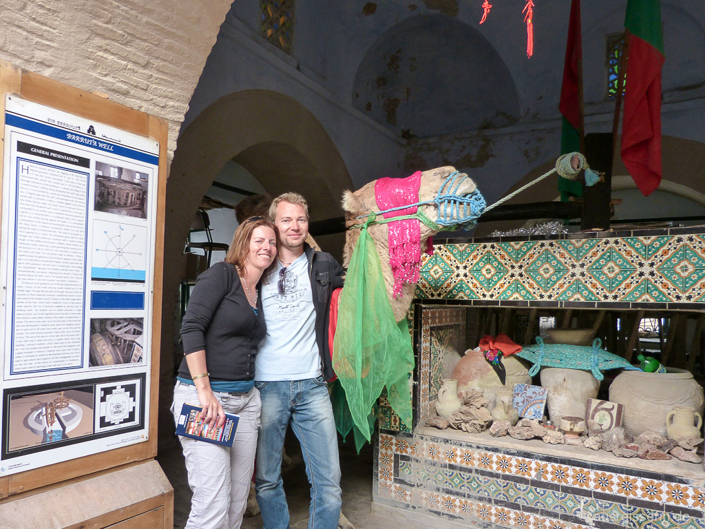 Jan und ich mit dem Dromedar