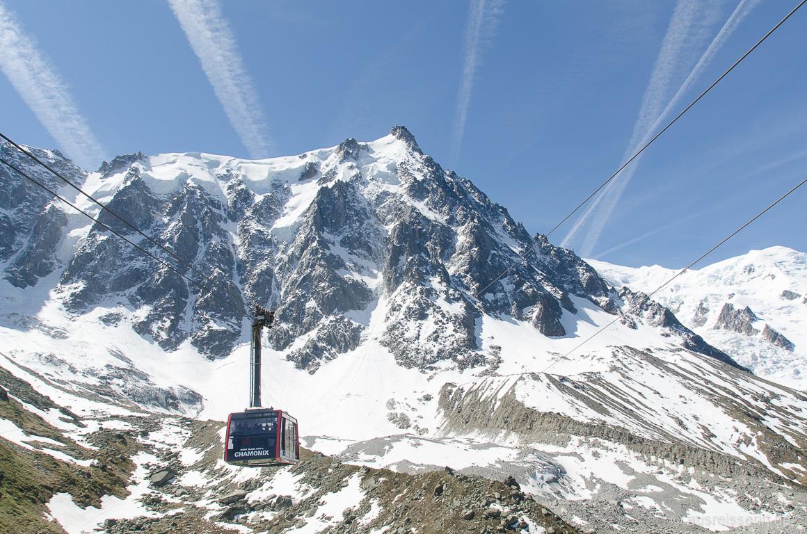 Gondel zur Aiguille du Midi