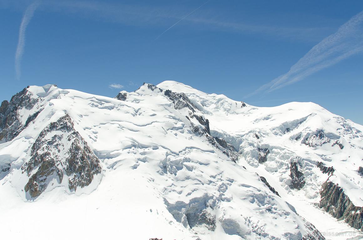 """Blick auf das """"Dach Europas"""", den Mont Blanc."""