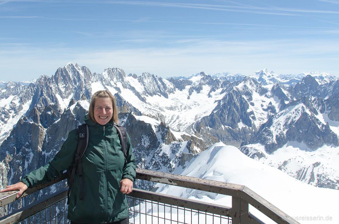 Ausblick von der Aiguille du Midi