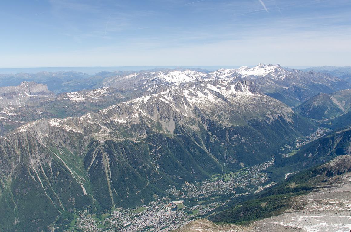 Ausblick auf Chamonix, Le Brévent und La Flégère