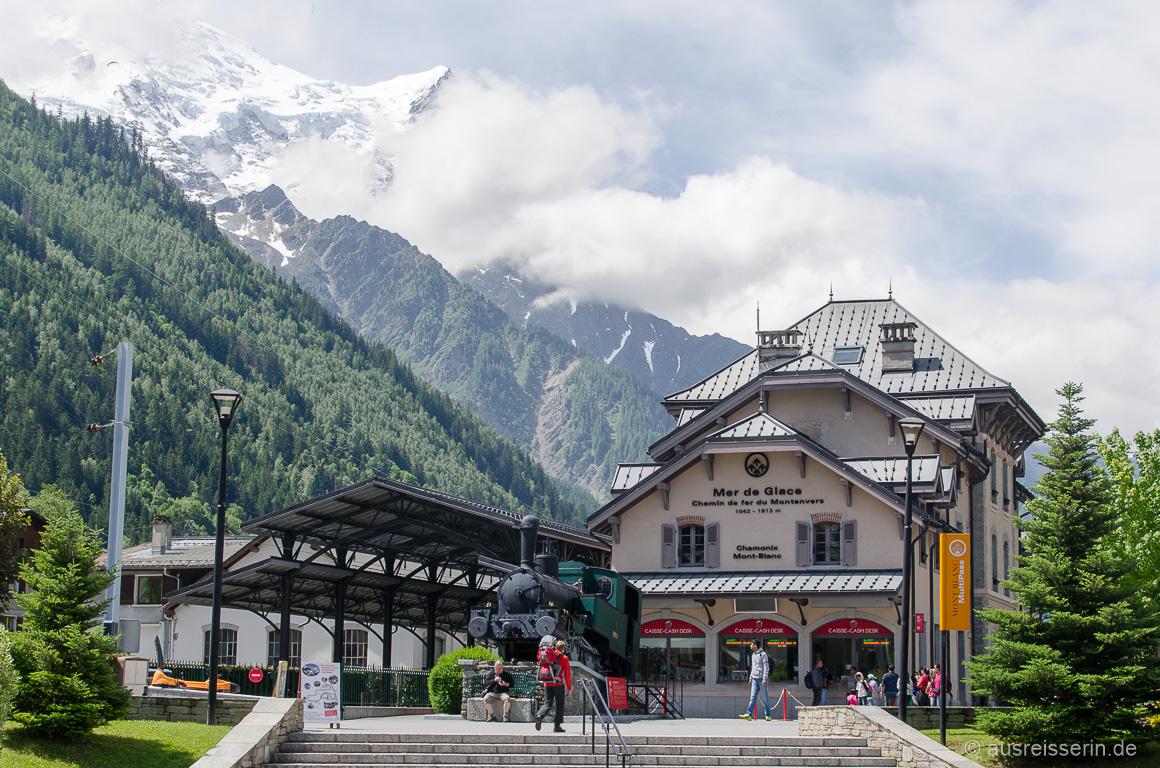 Bahnstation der Montenvers-Bahn in Chamonix