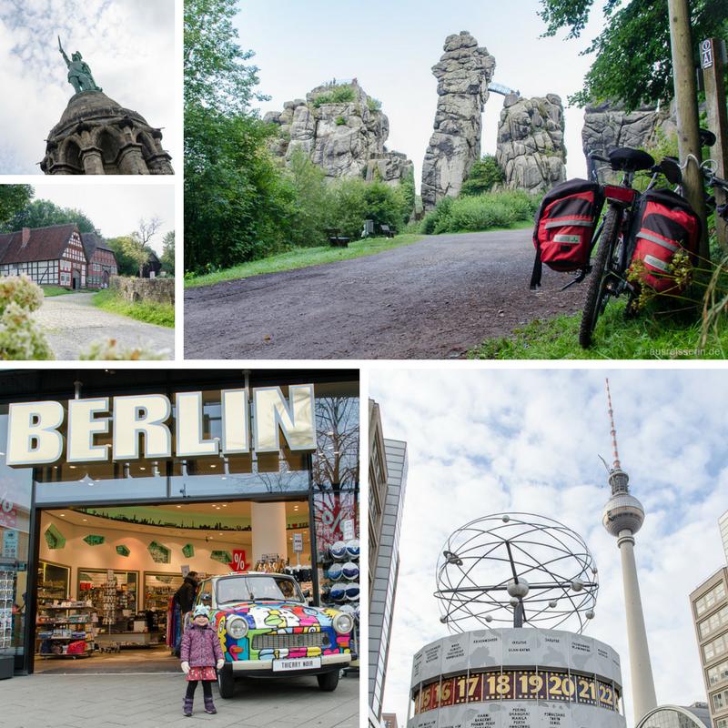 Unterwegs in Deutschland: Berlin und Detmold.