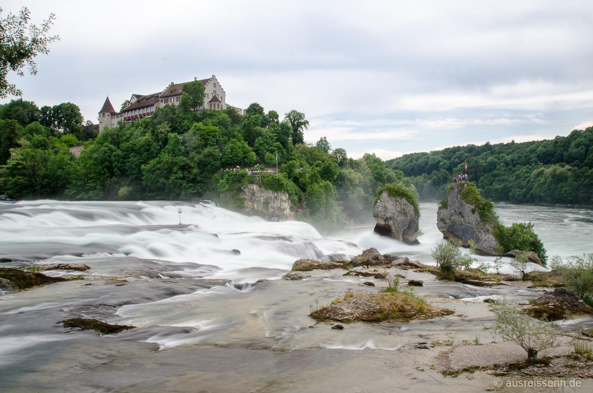 Rheinfall mit Langzeitbelichtung