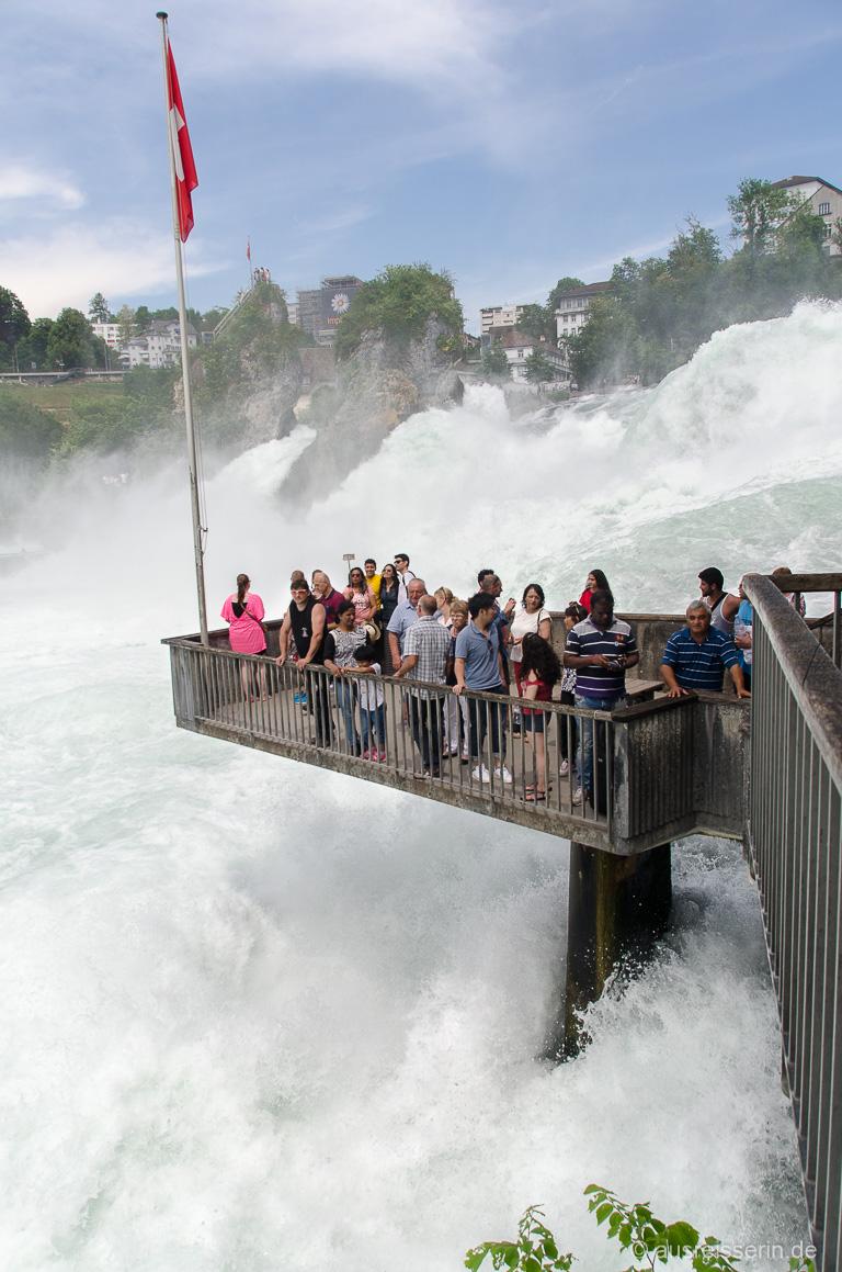 Besucherplattform am Rheinfall