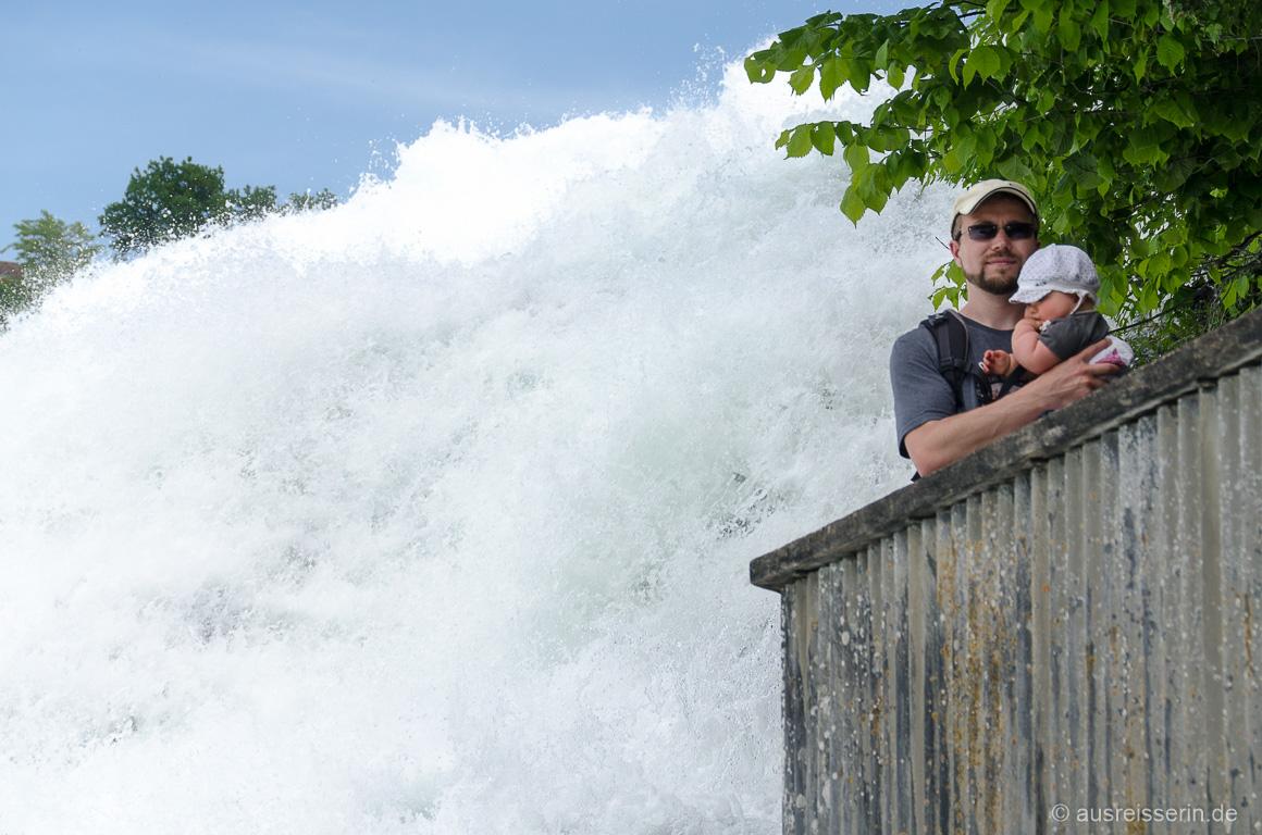 Wassermassen des Rheinfall