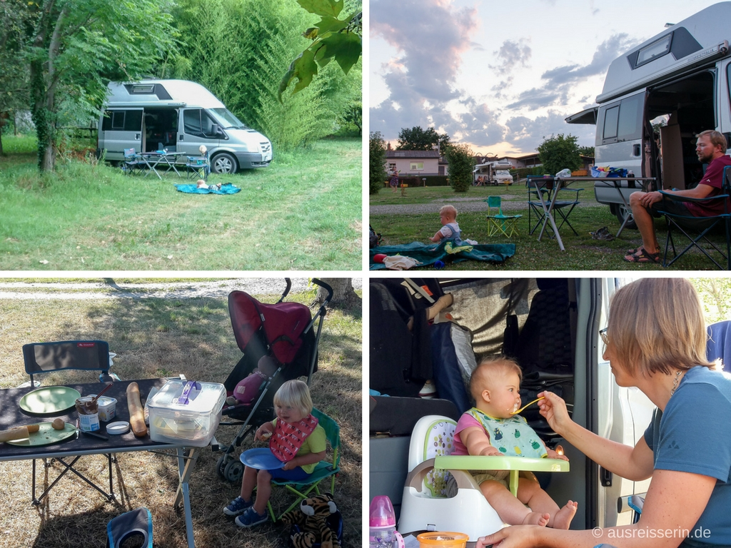 Camping-Mahlzeiten mit Kindern