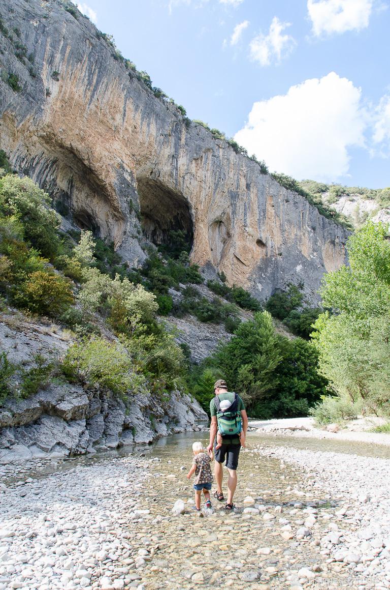 Spaziergang durch die Gorge du Toulourenc