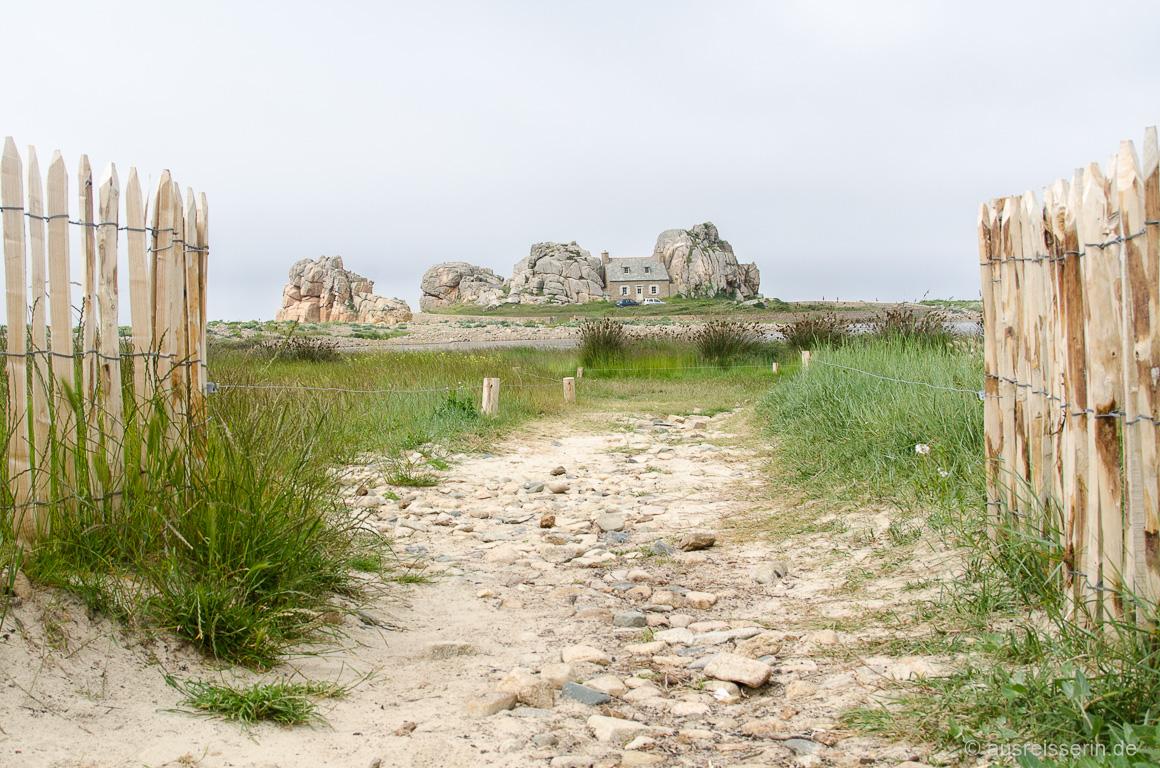Castel Meur: Das Haus zwischen den Felsen.