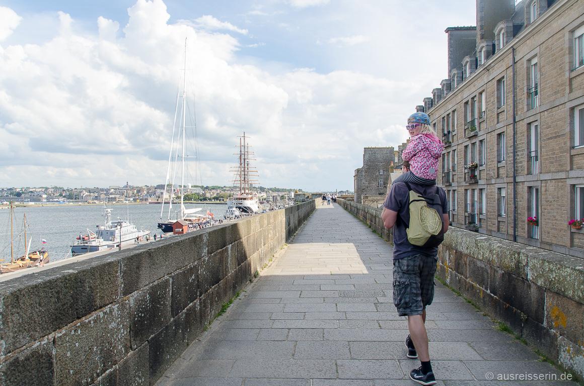 Saint-Malo: Aussicht auf das Bassin Vauban