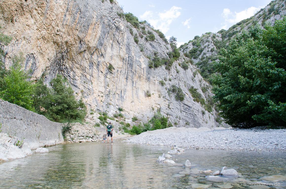 Wasserwandern durch den Toulourenc