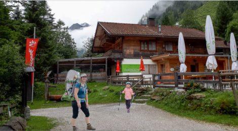 Voldertalhütte mit Kleinkindern