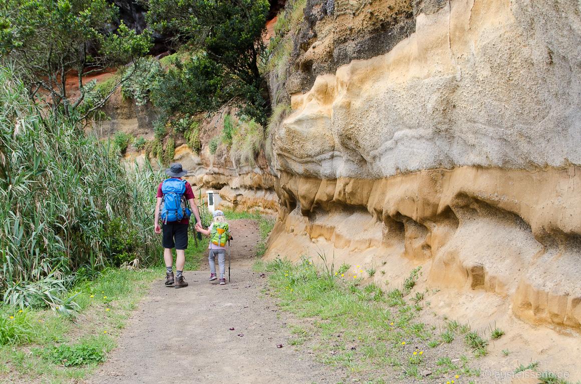 Rote Felswände aus Sandstein