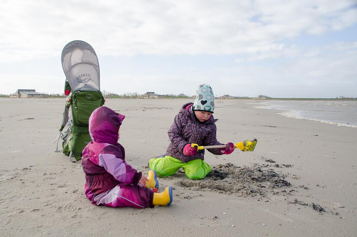 Strandbesuch im Winter