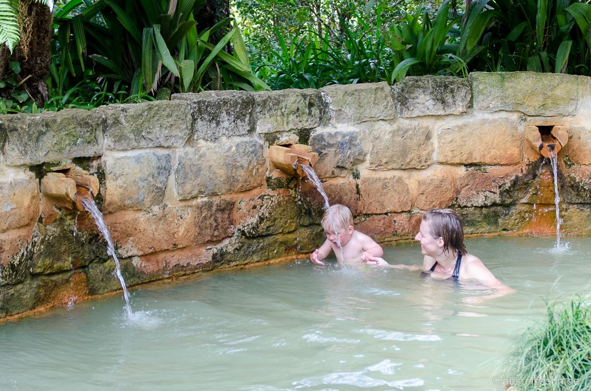 Heiße Badebecken im Terra Nostra Park