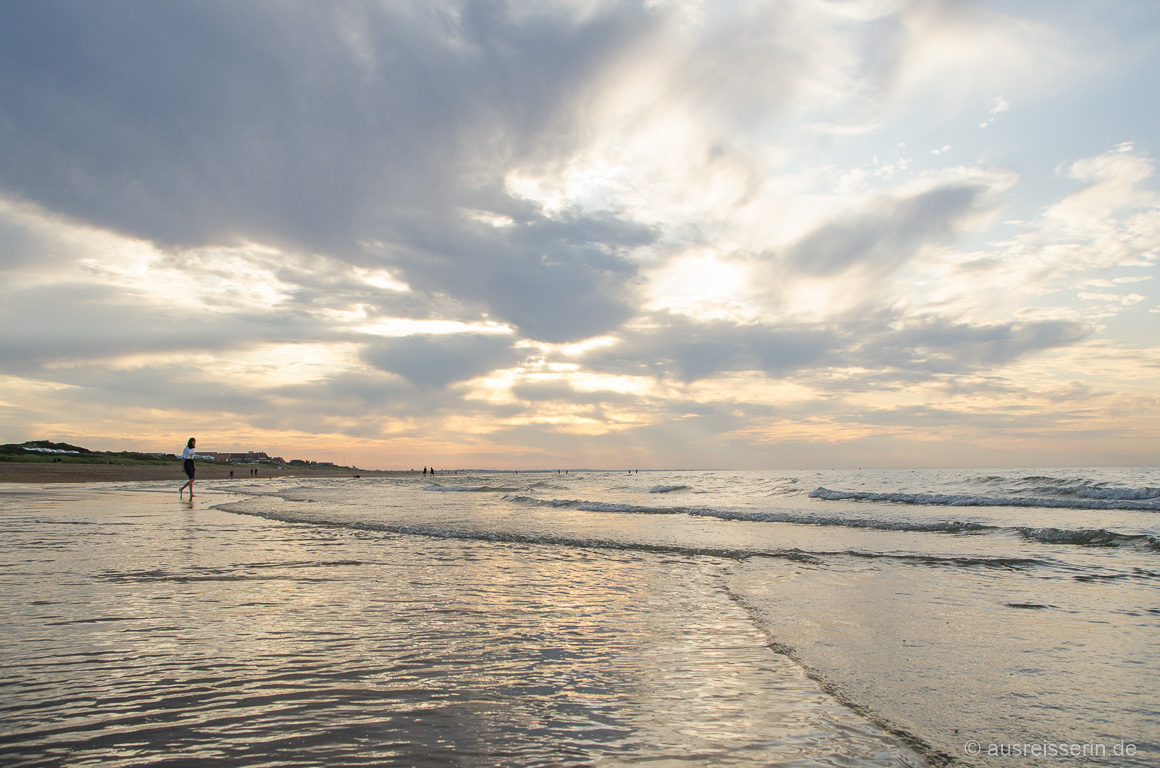 Krönender Urlaubsabschluss: Sonnenuntergang in der Normandie