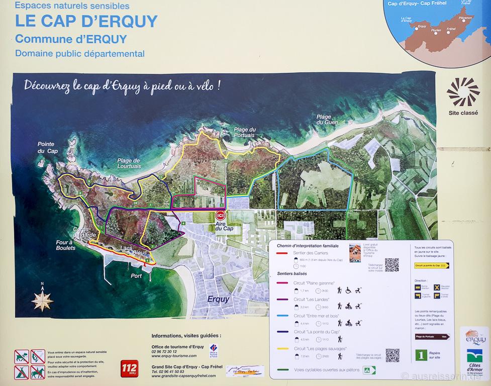 Wanderrouten am Cap d'Erquy