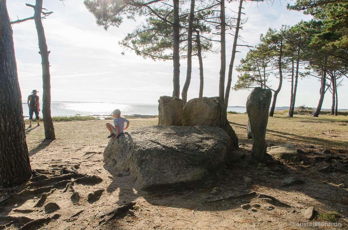 Überbleibsel aus der Jungsteinzeit Bretagne Südküste