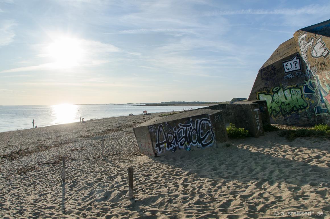 Überbleibsel des Atlantikwalls Bretagne Südküste