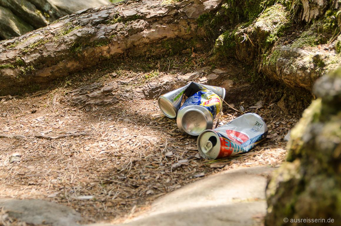 Müll im Wald: 10 - 100 Jahre brauchen Aludosen zum Zerfallen