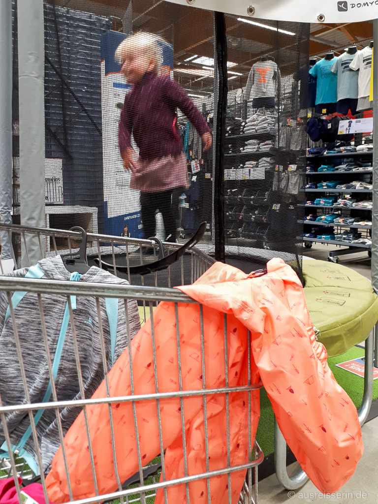 Shopping bei Regenwetter