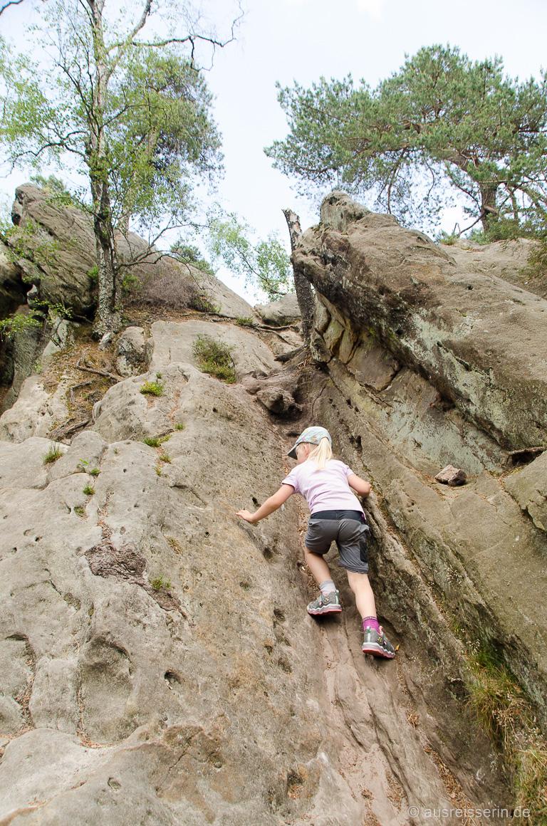 Klettern an den Dörenther Klippen