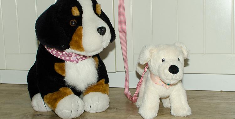 Kuscheltier-Hundehalsband nähen